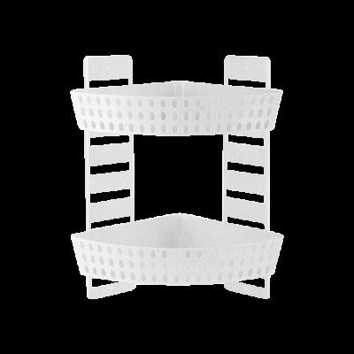 Półka łazienkowa narożna dwupoziomowa 41 cm