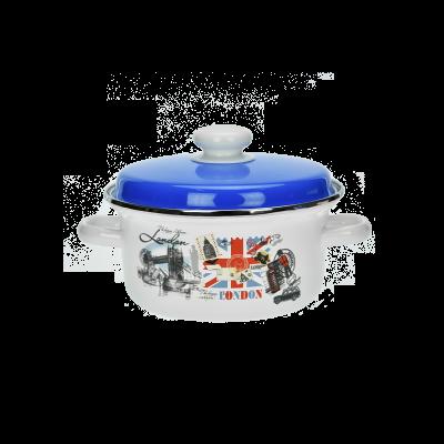 Garnek z niebieską pokrywą Londyn 2 l