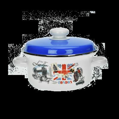 Garnek z niebieską pokrywą Londyn 3 l