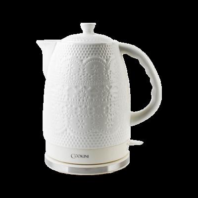 Czajnik elektryczny porcelanowy COOKINI koronka 1,7 l
