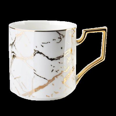 Kubek porcelanowy Cristie marmur biały 360 ml