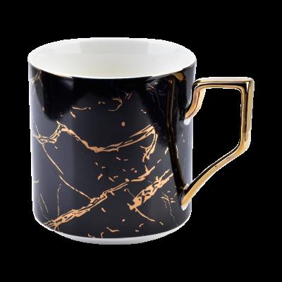 Kubek porcelanowy Cristie marmur czarny 360 ml