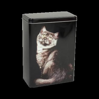Pudełko metalowe z kotem 18x10x24,5 cm