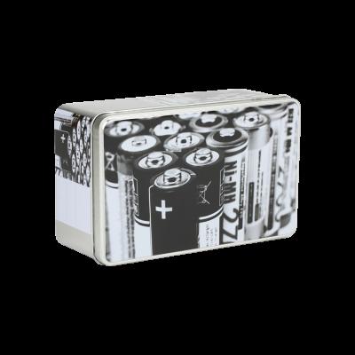 Pudełko metalowe baterie 18x11x7 cm