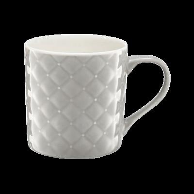 Kubek porcelanowy AMBITION pikowany szary 420 ml