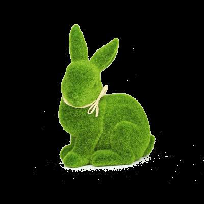 Figurka zając trawa zielony 20 cm