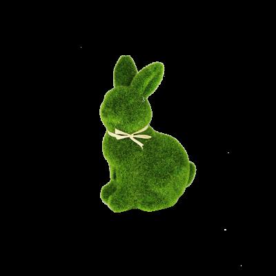 Figurka zając trawa zielony 14 cm