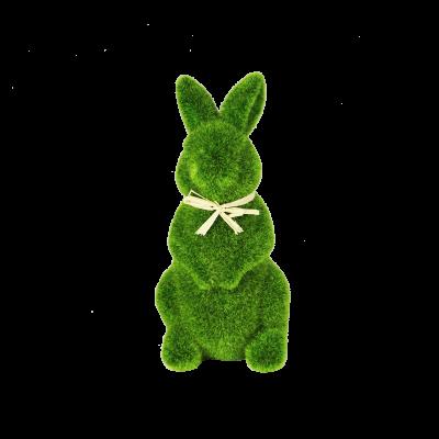 Figurka zając trawa zielony 15,5 cm