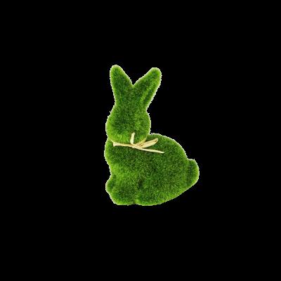 Figurka zając trawa zielony 9 cm