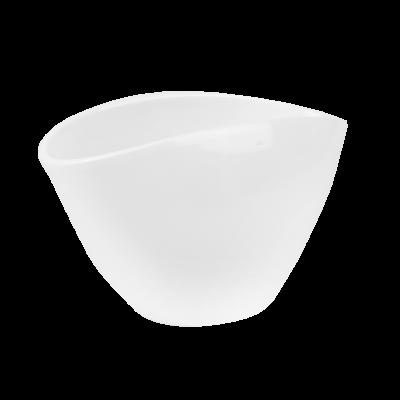 Osłonka ceramiczna owalna biała 29x15 cm