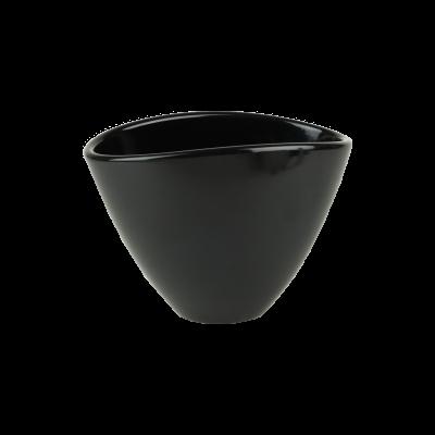 Osłonka ceramiczna owalna czarna 18x12 cm