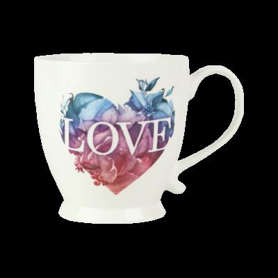 Kubek porcelanowy AMBITION Love kolorowe serce 480 ml
