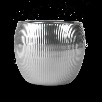 Osłonka ceramiczna baryłka srebrna 17 cm