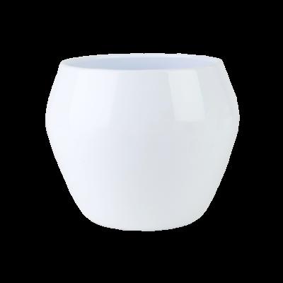 Osłonka ceramiczna baryłka biała 19 cm