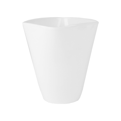 Osłonka ceramiczna do storczyków biała 13,5x13,5 cm