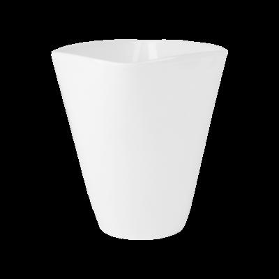 Osłonka ceramiczna do storczyków biała 11x11 cm