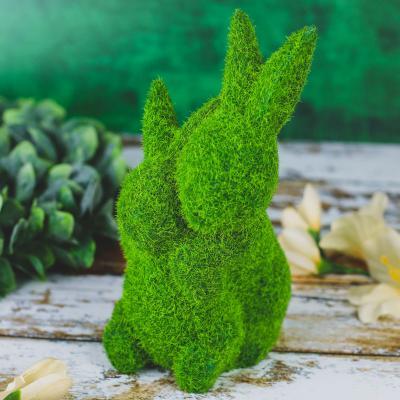 Zajączki flokowane zielone 20 cm