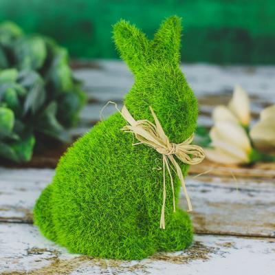 Zajączek flokowany zielony 13 cm