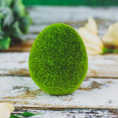 Figurka jajko flokowane zielone 8,5 cm
