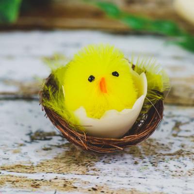 Kurczaczek w gniazdku żółty 5x5 cm