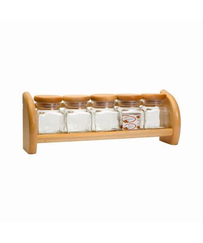Półka z 5 szklanymi pojemnikami PRESIDENT LINE - 1
