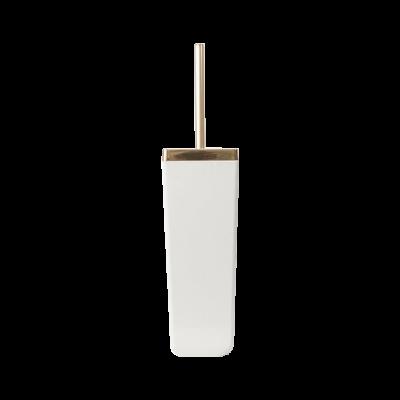 Szczotka toaletowa Toskana biało-złota 40 cm