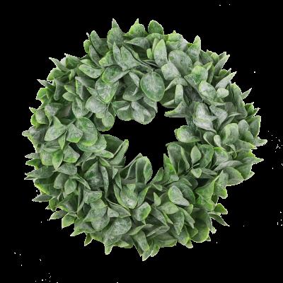 Wianek dekoracyjny zielone listki 30 cm