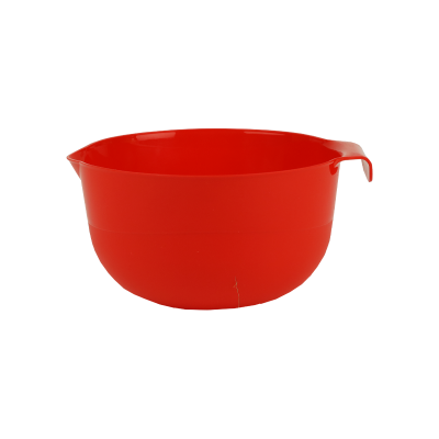Miska plastikowa z dzióbkiem czerwona 2 l