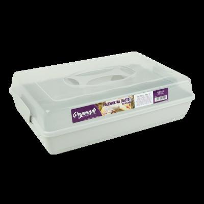 Pojemnik na ciasto szary 44x30x13 cm