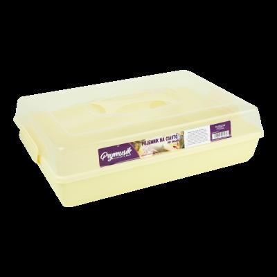 Pojemnik na ciasto kremowy 44x30x13 cm