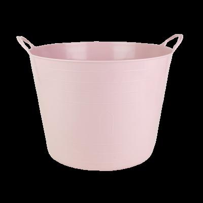 Kosz wielofunkcyjny flexi różowy 42 l