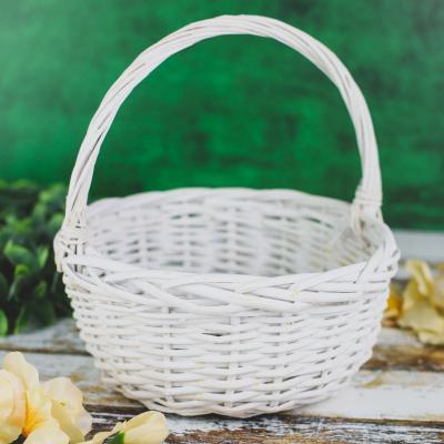 Koszyk wiklinowy biały 26 cm