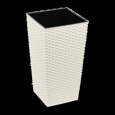 Doniczka z wkładem Finezja rattan kremowa 30x30 cm