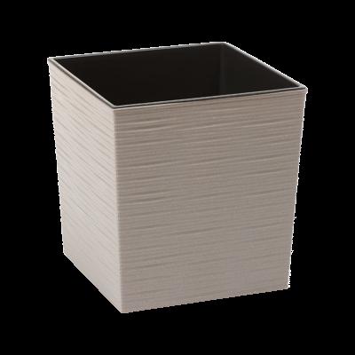 Doniczka z wkładem Juka Eco dłuto szara 30x30 cm