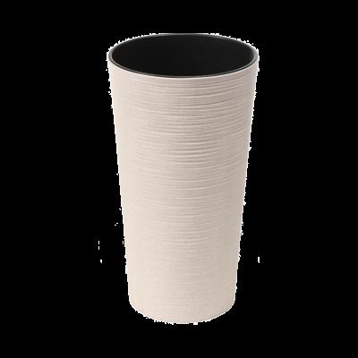 Doniczka z wkładem Lilia Eco dłuto biała 19 cm