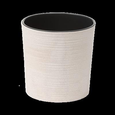 Doniczka z wkładem Malwa Eco dłuto biała 25 cm