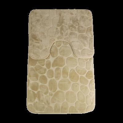 Komplet dywaników łazienkowych beżowy 50x80 cm+50x40 cm