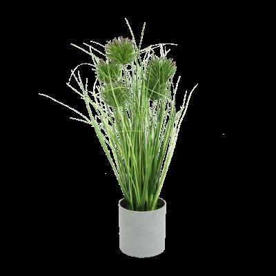 Sztuczna trawa w szarej doniczce 45 cm