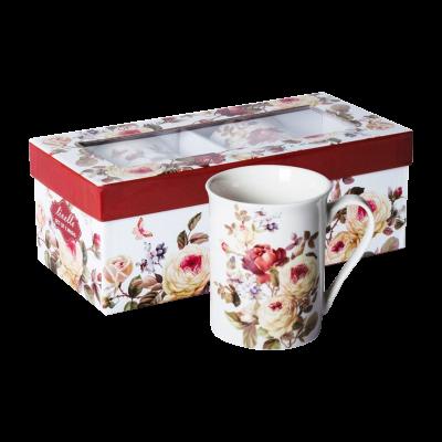 Komplet 2 kubków ceramicznych róże 350 ml