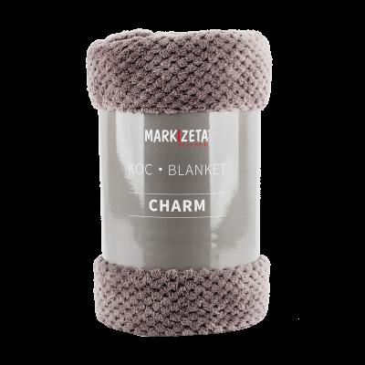 Koc Charm 200x220 cm ciemny szary