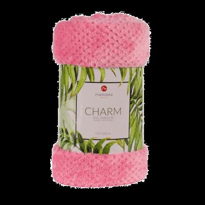 Koc Charm 200x220 cm różowy