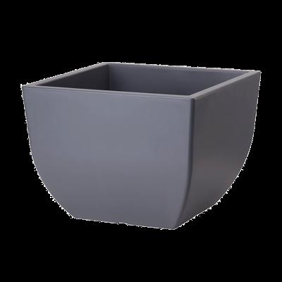 Doniczka Muna kwadratowa antracyt 40x40 cm