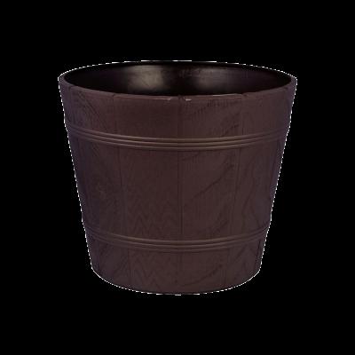Doniczka drewnopodobna Elba brąz 38 cm