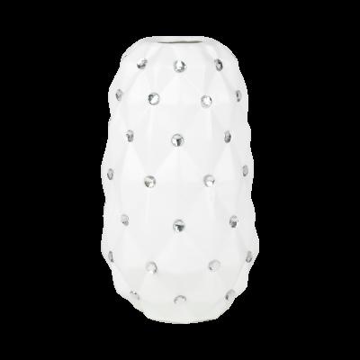 Wazon ceramiczny stożek 23,5 cm biały