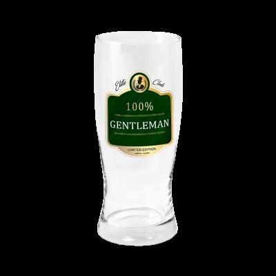 "Szklanka na piwo ""100% Gentleman"" 500 ml"