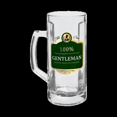 """Kufel na piwo """"100% Gentleman"""" 500ml"""