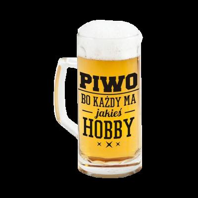 """Kufel na piwo """"Olej PRACE Wypij PIWO"""" 500 ml"""