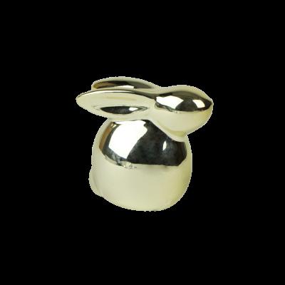 Mały zajączek ceramiczny złoty 5,5 cm