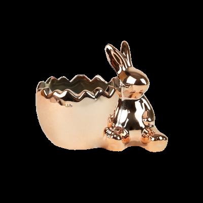 Osłonka ceramiczna zajączek 12,5x8,5x10 cm