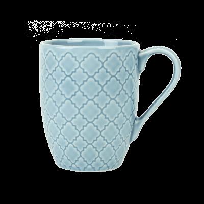 Kubek porcelanowy LUBIANA Marrakesz niebieski 350 ml